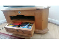 TV Stand Cabinet Wood Furniture Pine Style