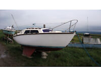 Boat winter project ' Rare inboard Hurley 20' yacht
