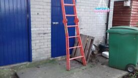 Metal combination ladder