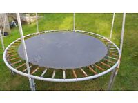 Used 8ft trampoline ,spare mat also has safety net not shown in image.