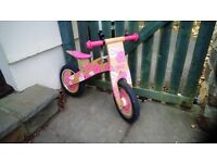 Tidlo pink first balance bike.