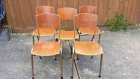Stacking chairs.