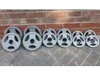 35KG OLYMPIC TRI GRIP WEIGHTS SET