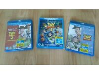 3 x toy story blu rays special edition with dvds