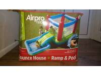 Bouncy castle- ramp and pool.