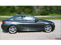 BMW 2 SERIES 2.0 220i M Sport 2dr start/stop, leather
