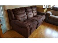 Three seater recliner sofa £79