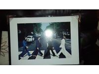 beatles icon framed picture new but with defects see details 53x74