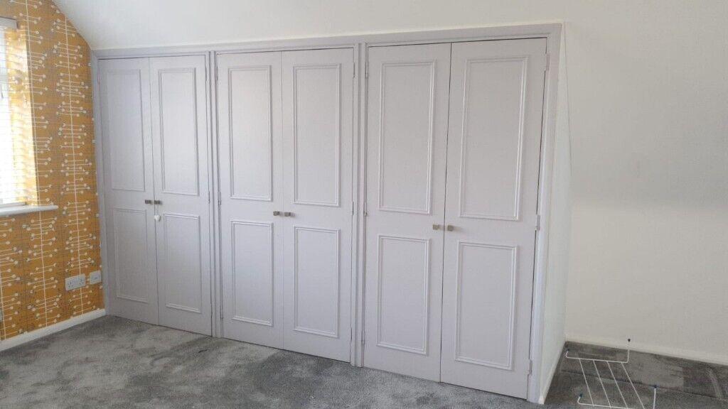best service 94d7c 66f33 Wooden cupboard doors for built in wardrobe, grey | in Saffron Walden,  Essex | Gumtree