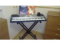Casio electronic keyboard and stand, 100 song bank, great condition, £60.00