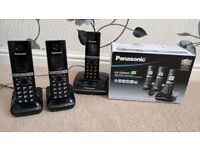Panasonic KX-TG8063 Triple Pack Cordless Phones with Answering Machine