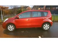 2008 Nissan Note 1.4 Petrol Cheap to run and insure, Good condition,low mileage