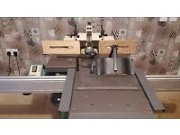 Kity 629 spindle moulder with sliding table.