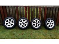 Audi A3 Genuine Original 16-inch 4x Alloys with 205-55-16 Tyres! All-in-one set