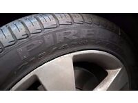 2 Pirelli P7 215/45 R16 tyres. Covered less than 600 miles