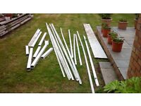 Free pvc pieces, small lengths gutter, drain, long lengths beading