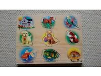 Melissa and Doug wooden sound animal puzzle