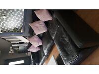 DFS Black leather corner sofa in good condition