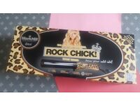 Mark Hill Rock Chick Wave Wand leopard print 32 mm large barrel for soft waves, used once, like new