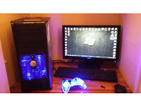 COMPLETE DELL Gaming System QUADCORE OVERCLOCKED WITH GAMES