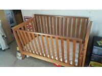 Childs cot / bed and mattress