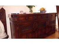 Beautiful solid oak sideboard