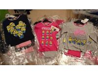 Joblot Girls minion Pj's approx 65 items