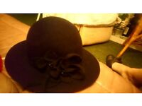 Black hat with flower design, M&S,