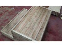 🌟Heavy Duty Waneylap Fence Panels 8mm Boards
