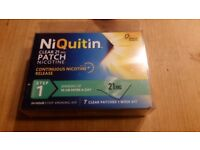 Niquitin clear patch step one. 21mg 7 patches