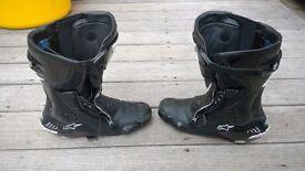 Alpinestars SMX Plus boots size EUR 43 US 9