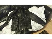 Motorcycle leather retro jacket