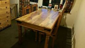 Rustic Pine Table and Chairs