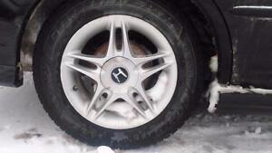 Honda civic aluminum rims with winter tires