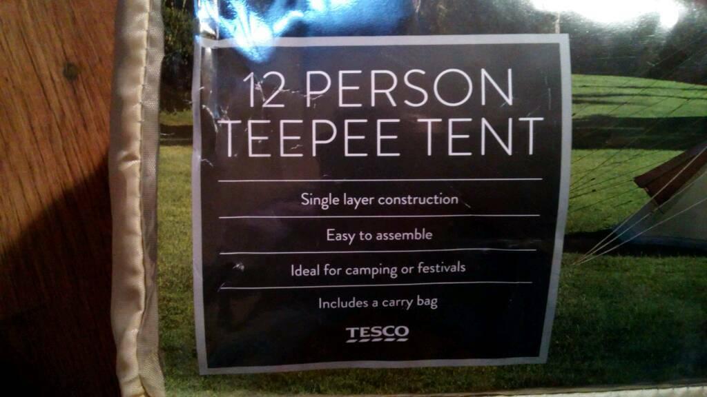 premium selection ff56e 155e1 12 person teepee tent   in Penicuik, Midlothian   Gumtree