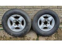 Nissan Navara alloy wheel x2 with tyre