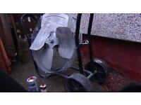 """Industrial 26"""" fan with trolley"""