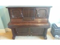Upright Piano by Stanhope of London with Stool