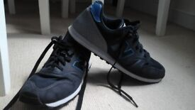 NEW BALANCE 373 - Black, grey & blue trainers - Size 7.5 - Lightly worn
