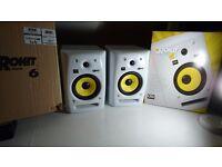 Krk G2 RP6 White Studio Monitors