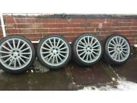 """18"""" Genuine Vw Golf R32 Alloy Wheels In Stealth Grey"""