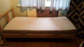 Mattress and single bed