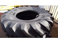 Pair of New Michelin XMCL Tyres. 480/80 R26 , 18.4 x R26. Rear Tyres fit JCB 3CX Backhoe Machines.