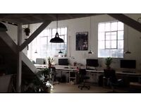 DESK SPACE AVAILABLE IN SPLIT LEVEL CREATIVE WAREHOUSE - HACKNEY WICK OVERLOOKING OLYMPIC PARK- £225