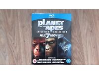 Planet of the Apes blue-ray Evolution Collection 7 disc box set.