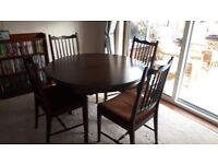 STAG Classic mahogany oval dining table and chairs