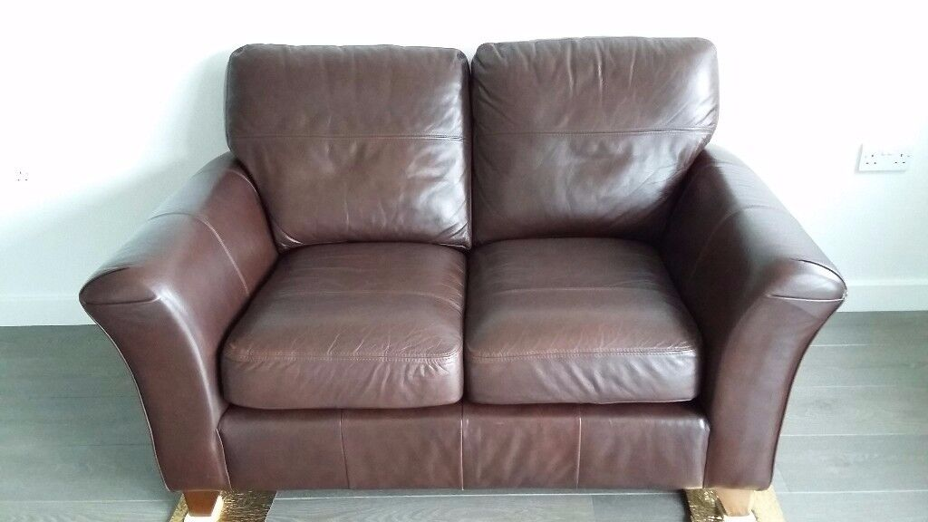 Leather sofa 2 seater M&S