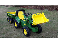 John Deere Pedal Tractor with loader and trailer