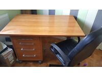 office desks, (2) with a chair and under desk 4 drawer unit.
