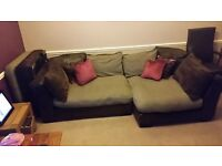 5 Seater Sofa, Foot Stall and 2 seater Rotary Arm Chair.
